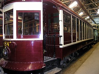 Brooklyn and Queens Transit Corporation - Image: Brooklyn trolley 4547 at Seashore Trolley Museum, August 2006
