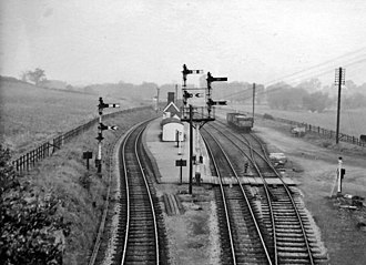 Stratford-upon-Avon and Midland Junction Railway - Broom Junction Station looking north