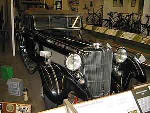 Nottingham Industrial Museum - Brough superior automobile