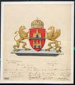 Budapest elfogadott címerterve Fridrich Lajos 1873.jpg