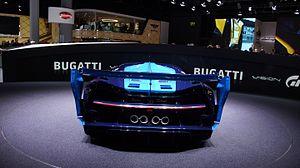 Bugatti Vision Gran Turismo - Rear view of the Vision Gran Turismo.