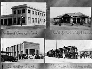 Owensmouth - Buildings in Owensmouth 1914.