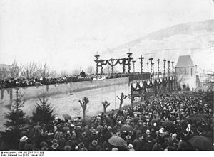 "Cochem - Dedication of the ""Skagerrak Bridge"" on 23 January 1927"