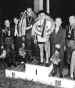 Georg Stoltze - Georg Stoltze (second from right) at the podium of the national championships in 1961