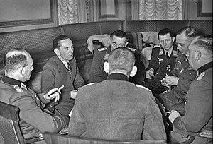 Wehrmachtbericht - Joseph Goebbels with Wehrmacht propaganda officers, 1941