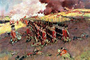 English: Battle of Bunker Hill, circa 1897, pu...
