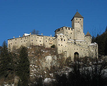 Castle in Sand in Taufers