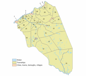 Burlington County, New Jersey - Index map of Burlington County Municipalities (click to see index key)