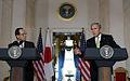 Bush Fukuda, White House, Nov. 16, 2007.jpg