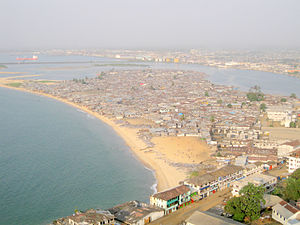 Ebola virus epidemic in Liberia - A view of the West Point area of Monrovia
