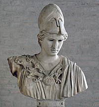 Bust of Athena in the Munich Glyptothek