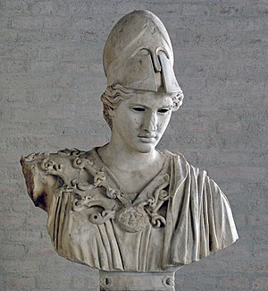 Athena of Velletri - Head of a statue of this type (Glyptothek)