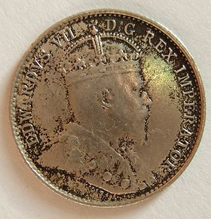 Nickel (Canadian coin) - Image: CANADA, EDWARD VII 1906 5 CENTS b Flickr woody 1778a