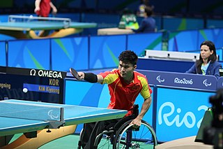 Cao Ningning Chinese para table tennis player