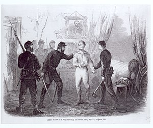 Clement Vallandigham - Vallandigham's arrest, 1863
