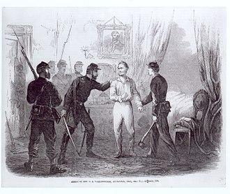 Clement Vallandigham - Vallandigham's arrest, 1863