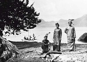 Sangihe Islands - Inhabitants of the Sangir Islands in traditional costume ca. 1905