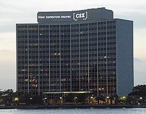 CSX Corporation - The CSX building, Jacksonville, FL, US, at night