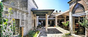 Caferağa Medresseh - Panoramic view of the courtyard of the Caferağa Medresseh