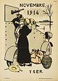 Calendrier de la Guerre.1e Annee Aout 1914 Juillet 1915- Novembre 1914 Art.IWMART50045.jpg