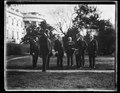 Calvin Coolidge and group outside White House, Washington, D.C. LCCN2016892830.tif