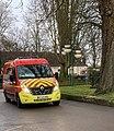 Camion de pompiers dans une rue de Beaune (janvier 2021).jpg