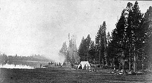 William Henry Jackson - Survey Camp, Yellowstone National Park, 1871. Photo by William Henry Jackson