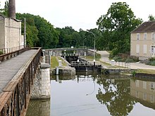 Canal junction at Buges