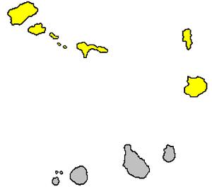 Barlavento Islands - Barlavento islands (yellow)