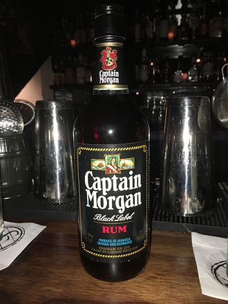 Captain Morgan - Captain Morgan Black Label from the 1970s.  A product of Jamaica, Guyana and Barbados, produced by the Seagram company.