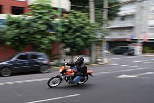 Motorcycle hooliganism - Street racing in Mexico, 2008.