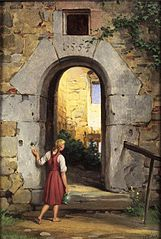 Young Woman before a Ruined Door