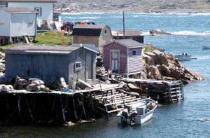 Fishing stage - Fishing stages in Fogo, Newfoundland