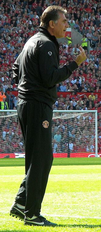 Carlos Queiroz - Queiroz at Old Trafford during a match between Manchester United and Reading on 12 August 2007