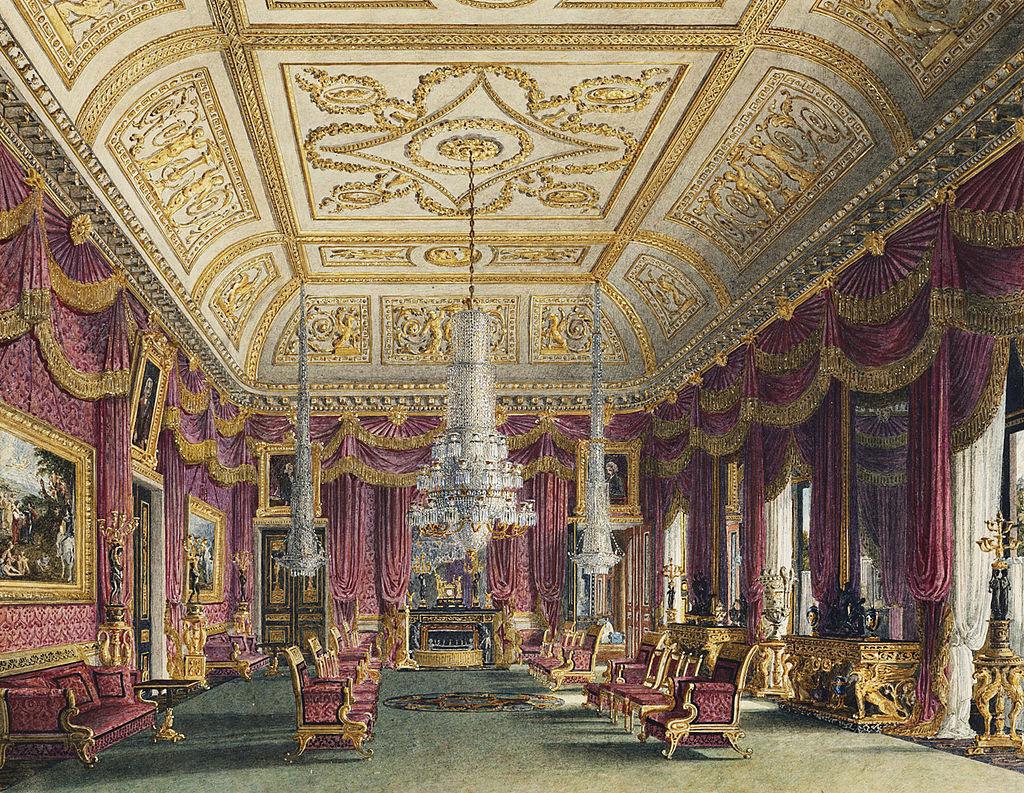Карлтон-Хаус, Малиновая гостиная, по Charles Wild, 1816 - royal coll 922176 313730 ORI 2.jpg