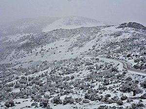 Transandean Highway - Image: Carretera Transandina nevada