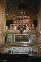 Casket of Saint Francis Xavier in the Basilica of Bom Jesus in Goa