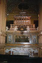 Casket of Saint Francis Xavier in the Basilica of Bom Jesus in Goa