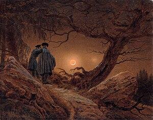 Galerie Neue Meister - Image: Caspar David Friedrich Zwei Männer in Betrachtung des Mondes