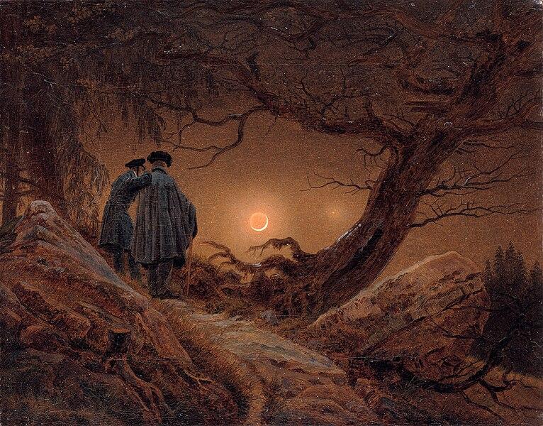 File:Caspar David Friedrich - Zwei Männer in Betrachtung des Mondes.jpg
