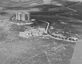 Big Fence - Image: Castel Del Monte while on VHF site selection duty. November, 1943