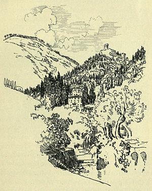Vincigliata - Castello Vincigliata and its environs pictured by Joseph Pennell, c. 1904