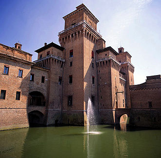 Castello Estense - Exterior view and moat