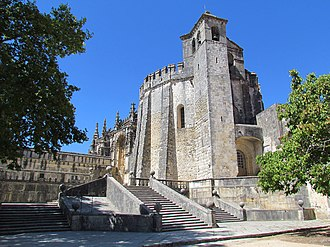 Portuguese Romanesque architecture - The famous round church (rotunda) of the Convent of Christ was built in the second half of the 12th century. Like some other templar churches throughout Europe, was modelled after the Dome of the Rock in Jerusalem.