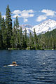 Castle Lake (California) - swimmer with Mt. Shasta (332269890).jpg