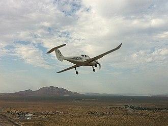 Scaled Composites Catbird - First flight after restoration July 7, 2011