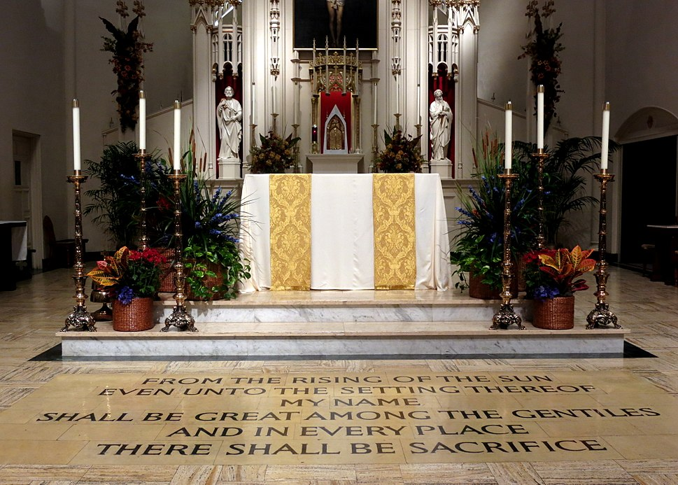 Cathedral of Saint Mary of the Immaculate Conception (Peoria, Illinois) - tabernacle, altar, Malachi 1-11