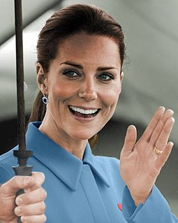 Catherine, Duchess of Cambridge Wife of Prince William, Duke of Cambridge