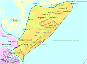 Brigantine, New Jersey - Image: Census Bureau map of Brigantine, New Jersey
