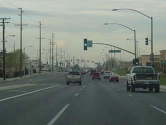 Palmdale, California - Central Palmdale looking north along 10th Street West toward Rancho Vista Blvd.